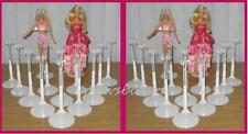 2 dozen (24) White Kaiser BARBIE Doll Stands for Monster High Fashion Royalty