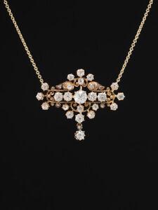 ANTIQUE EDWARDIAN GLORIOUS 3.68 Ct DIAMOND NECKLACE