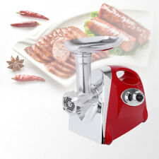 Electric Meat Grinder Sausage Stuffer New Commercial Stainless Steel Maker Red
