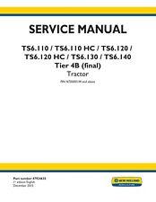 NEW HOLLAND TS6.110 TS6.120 TS6.130 TS6.140 TRACTOR SERVICE MANUAL