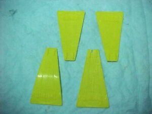 """4 TINKERTOY YELLOW PLASTIC FAN BLADES APPROXIMATE LENGTH 2 3/4 """""""