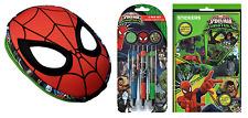 Maschera Spiderman Astuccio 3 x Penne & 700 Adesivi Cancelleria Set Regalo Festa