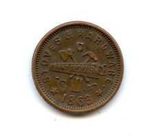 Civil War Token 510L-1a1/Stoves Etc. (#6300) Milwaukee, WI. Reeded Edge R-5. Bro