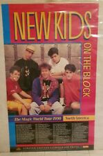 New Kids on the Block * Official Tour Poster 1990 * Mint Condition * Rare Nkotb