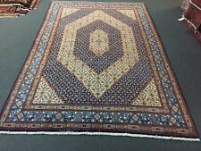 Sale Tabrizz Hand Knotted Vintage Area Rug Traditional Carpet Blue 7'5x11'1,2865
