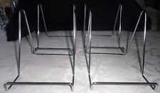 4 TOP QUALITY X LARGE SIZE BOOK / PICTURE STANDS - CHROME
