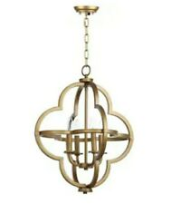 Safavieh Lighting Millard Gold Brass 4 light Pendant Light Glam Star Shape