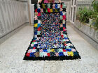 Moroccan Handmade Boucherouite Rug Vintage Beni Ourain Runner Rug Berber Carpet