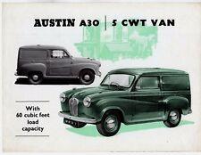 Austin A30 5cwt Van 1954-55 UK Market Foldout Sales Brochure