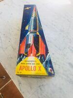 GIOCATTOLO EPOCA MISSILE 1960 APOLLO X MADE IN HONG KONG ORIGINAL BOX