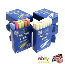 Chalk Sticks Boxed Kids Playground School Art Blackboard Pub White or Colour