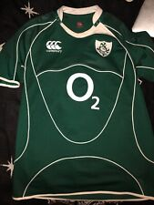 Ireland Rugby Union National Team 2008/2009 Green Jersey O2 Canterbury L Irfu