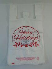 Happy Holiday Snow Globe Plastic T Shirt Shopping Bags Handles 1125x 6 X 21