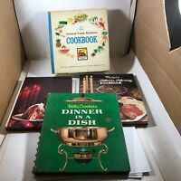 Lot of 4 Vintage Hardcover Cook Books Betty Crocker General Foods