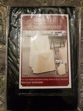 Sure Fit Cotton Duck Folding Chair Cover Color Rich Black