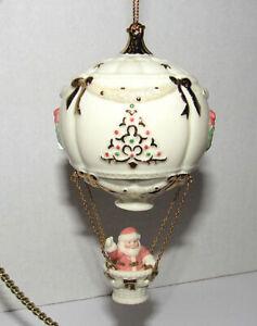 Lenox Christmas Hot Air Balloon Ornament Ho Ho Ho From Above Santa Waving