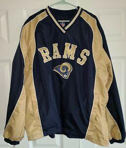 St. Louis Rams Pullover Windbreaker Adult XL Football NFL NFC Jacket Coat Sports