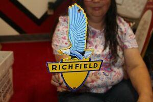Richfield Gasoline Motor Oil Gas Station Porcelain Metal Sign