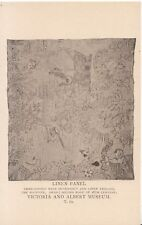 Victoria and Albert Museum Postcard - Linen Panel - Embroidered - Ref ZZ4279