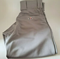 NEW Alleson Athletic Youth Boys Baseball Pants Gray Elastic Size L