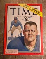 1959 Nee York Giants SAM HUFF Signed TIME Magazine