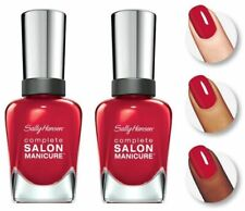 Lot Of 2 Sally Hansen Complete Salon Manicure Nail Polish 231 Red My Lips