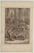 Medizin Heilkunde Orig. Holzstich um 1600 von Chr. v. SICHEM Monogramm Soldaten