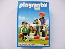 PLAYMOBIL VINTAGE 3714 JUNIOR JOCKEYS FARM CHILDREN SHETLAND PONIES-NEW IN BOX!