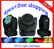4pcs 36*3W RGBW Led Beam Moving Head Wash Light Home/Club/DJ Light Free Shipping