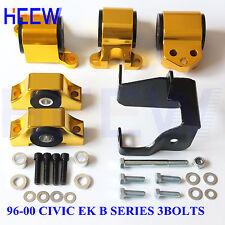 MOTOR MOUNT CHASSIS KIT TORQUE ENGINE FOR HONDA CIVIC 96-00 B16 B20 EK 3BOLTS GG