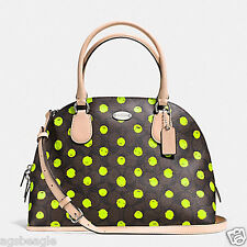Coach Bag F33260 Cora Domed Satchel in Dot Print Crossgain Leather Agsbeagle COD