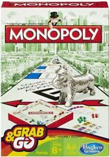 Hasbro Grab and Go Family Monopoly Travel Classic Portable Game Ages 8
