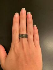 Brass Ring with Detailed Etching. Perfect Condition. Fini brand.