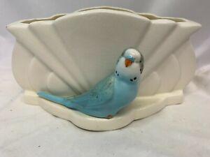 Vintage Early Falcon Ware Art Deco Budgie Fan Vase