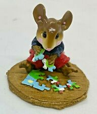 """RETIRED Wee Forest Folk 2005 M-320 """"Puzzled"""" (Blue/Red) Signed """"WP"""""""