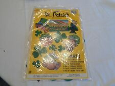 Vintage Beistle Usa St Patricks Day Decorations In Package Cardboard Tissue Art