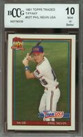 1991 topps traded tiffany #83t PHIL NEVIN usa astros rookie card BGS BCCG 10