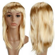 """19"""" Part Costume Wig Curly Full Bang Wig Halloween Anime Cosplay Dark Blonde th"""