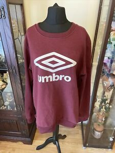 Mens Purple Umbro Sweatshirt Size XL