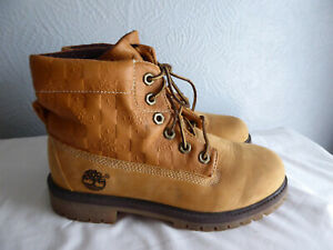 Timberland tan leather lace up round toe ankle boots size 5 no wear