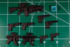 Custom Weapons resin black cast 6 inch scale 1:12 9 weapons + cube