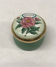 2003 Halcyon Days Enamels Mini Annual Year A Year To Remember Trinket Pill Box