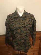 Govt DIGITAL Woodland Camo  SHIRT Military US Marine Corps USMC Jacket Small