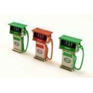 Three Garage Esso Petrol Pumps, Dolls House Miniature