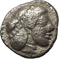 SYRACUSE in SICILY 475BC Silver Litra NYMPH Arethusa Silver Greek Coin i53976