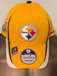 Pittsburgh STEELERS Super Bowl XLV 45 Ben POLAMALU Harrison New MENS S/M HAT Cap