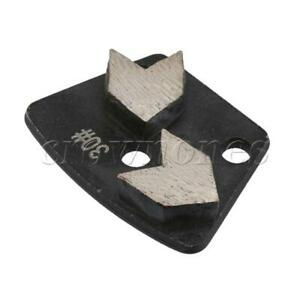Black 30# Grit Forked Tail Shape PCD Diamond Steel Metal Grinding Pad Disc