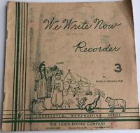 Script Cursive Handwriting Book Home School. We Write Now 1954 Vintage