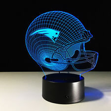 NFL New England Patriots 3D Night Light 7 Color Change LED Table Lamp Xmas Gift
