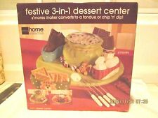 DESSERT CENTER/ J.C. PENNY /HOME COLLECTION  3-in-1  FONDUE-S'MORES-CHIPS & DIP